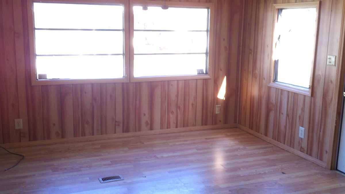 lot 16 a 2 bedroom 1 bath singlewide wood paneling and wood floors with porch has been painted and remodeled 5900 with 2000 down 95month owner - Wood Paneling With Wood Floor